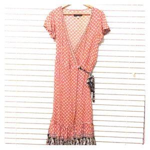 Francesca's Boutique Wrap Midi Dress